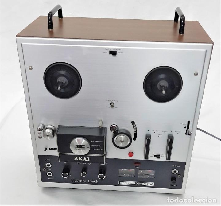Fonógrafos y grabadoras de válvulas: MAGNETÓFONO DE CINTA ABIERTA AKAI X 165-D - SERIE Nº 70419-01857 - GRABA BIEN VER VÍDEOS - Foto 6 - 262097700