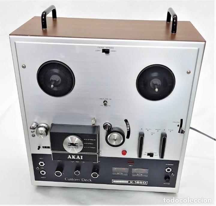 Fonógrafos y grabadoras de válvulas: MAGNETÓFONO DE CINTA ABIERTA AKAI X 165-D - SERIE Nº 70419-01857 - GRABA BIEN VER VÍDEOS - Foto 7 - 262097700