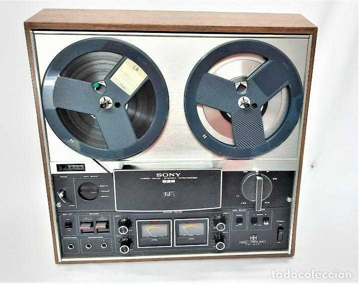MAGNETÓFONO DE CINTA ABIERTA SONY TC-377 STEREO - SERIE 81975 - GRABA BIEN VER VÍDEOS (Radios, Gramófonos, Grabadoras y Otros - Fonógrafos y Grabadoras de Válvulas)