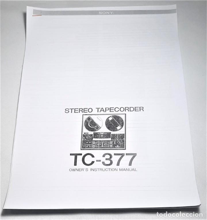 Fonógrafos y grabadoras de válvulas: MAGNETÓFONO DE CINTA ABIERTA SONY TC-377 STEREO - SERIE 81975 - GRABA BIEN VER VÍDEOS - Foto 12 - 262119285