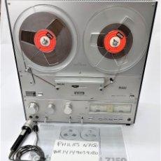 Fonógrafos y grabadoras de válvulas: MAGNETÓFONO DE CINTA ABIERTA PHILIPS N7150/00 STEREO 3 MOTORES - GRABA BIEN VER VÍDEOS. Lote 262122875