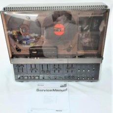 Fonógrafos y grabadoras de válvulas: MAGNETÓFONO DE CINTA ABIERTA - PHILIPS N4422/50 STEREO 3 MOTORES - GRABA BIEN VER VÍDEOS. Lote 262129235