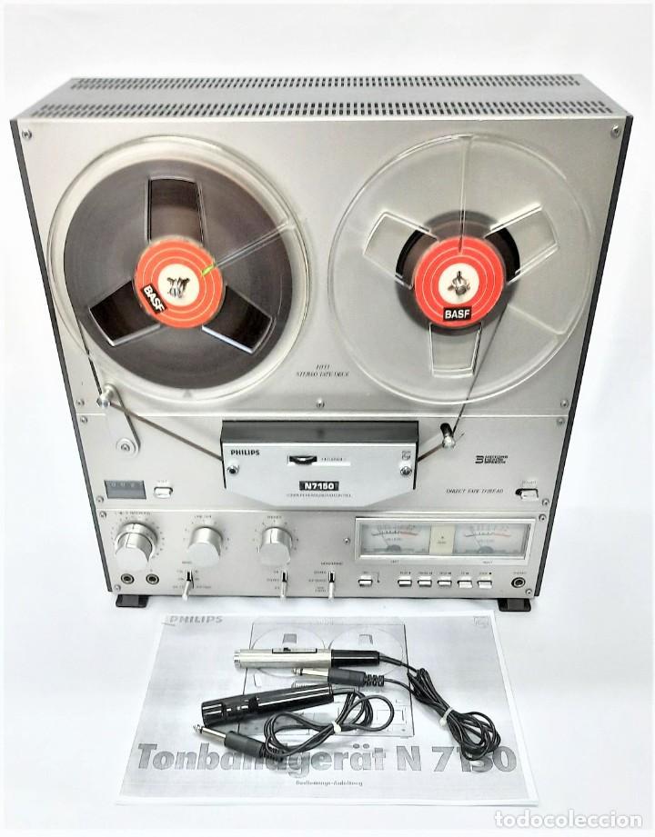MAGNETÓFONO DE CINTA ABIERTA PHILIPS N7150/00 STEREO 3 MOTORES - WR 14149039195 GRABA BIEN (Radios, Gramófonos, Grabadoras y Otros - Fonógrafos y Grabadoras de Válvulas)