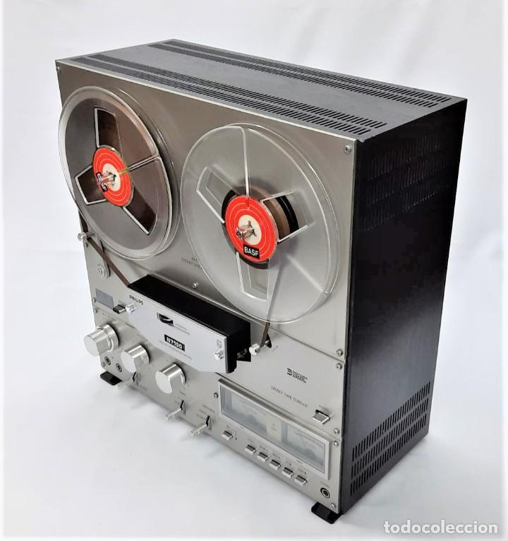 Fonógrafos y grabadoras de válvulas: MAGNETÓFONO DE CINTA ABIERTA PHILIPS N7150/00 STEREO 3 MOTORES - WR 14149039195 GRABA BIEN - Foto 6 - 262799850