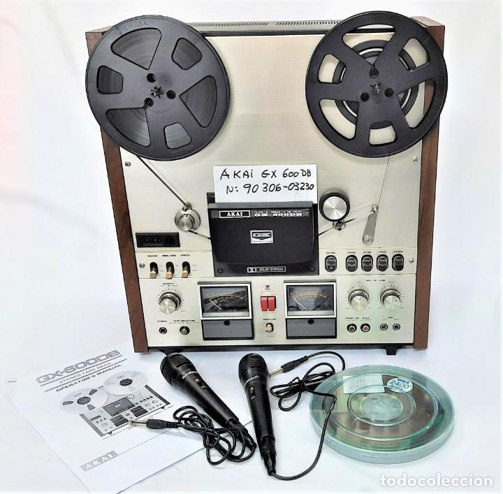 AKAI GX 600DB / SERIE 90306-03230 /AÑO 1980-82 - NECESTA AMPLIFICADOR EXTERNO - GRABA BIEN (Radios, Gramófonos, Grabadoras y Otros - Fonógrafos y Grabadoras de Válvulas)