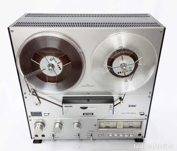 MAGNETÓFONO BOBINA ABIERTA PHILIPS N7150/00 STEREO 3 MOTORES - GRABA BIEN VER VÍDEOS (Radios, Gramófonos, Grabadoras y Otros - Fonógrafos y Grabadoras de Válvulas)