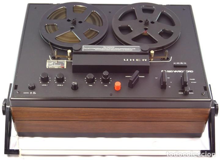 Fonógrafos y grabadoras de válvulas: MAGNETÓFONO UHER SG 520 VARIOCORD Serie 2801-14636 Año 1970/72- GRABA BIEN - Foto 5 - 264069615
