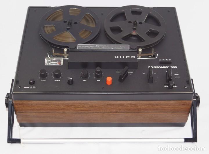 Fonógrafos y grabadoras de válvulas: MAGNETÓFONO UHER SG 520 VARIOCORD Serie 2801-14636 Año 1970/72- GRABA BIEN - Foto 7 - 264069615
