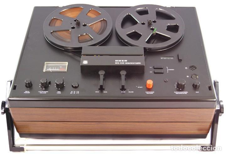 Fonógrafos y grabadoras de válvulas: MAGNETÓFONO UHER SG 510 – SERIE 2751-03157 – GRABA BIEN - INTERIOR MUY NUEVO - Foto 10 - 264075360
