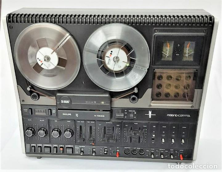 Fonógrafos y grabadoras de válvulas: PHILIPS N4506/00 3 MOTORES - GRABA BIEN, VER VÍDEOS ADJUNTOS - Serie WR: 05739033258 - Foto 6 - 264536829
