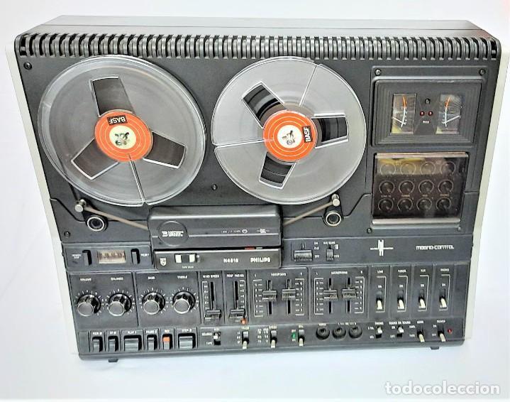 Fonógrafos y grabadoras de válvulas: PHILIPS N4515/00 3 Motores GRABA BIEN, VER VÍDEOS ADJUNTOS - Serie WR: 02908018873 - Foto 4 - 264538294