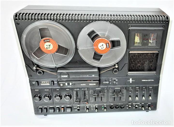 Fonógrafos y grabadoras de válvulas: PHILIPS N4515/00 3 Motores GRABA BIEN, VER VÍDEOS ADJUNTOS - Serie WR: 02908018873 - Foto 5 - 264538294