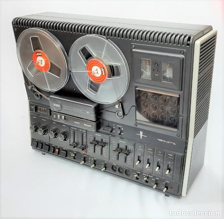 Fonógrafos y grabadoras de válvulas: PHILIPS N4515/00 3 Motores GRABA BIEN, VER VÍDEOS ADJUNTOS - Serie WR: 02908018873 - Foto 6 - 264538294
