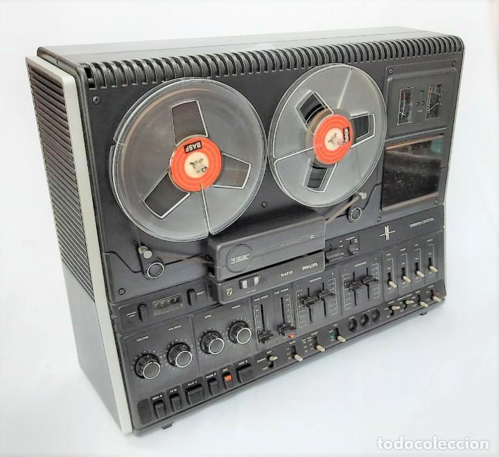 Fonógrafos y grabadoras de válvulas: PHILIPS N4515/00 3 Motores GRABA BIEN, VER VÍDEOS ADJUNTOS - Serie WR: 02908018873 - Foto 7 - 264538294