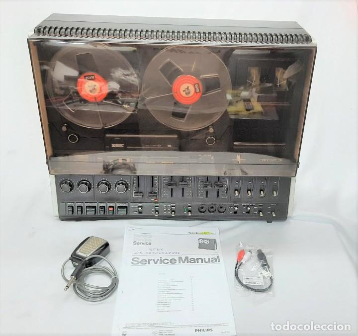 Fonógrafos y grabadoras de válvulas: PHILIPS N4515/00 3 Motores GRABA BIEN, VER VÍDEOS ADJUNTOS - Serie WR: 02908018873 - Foto 15 - 264538294