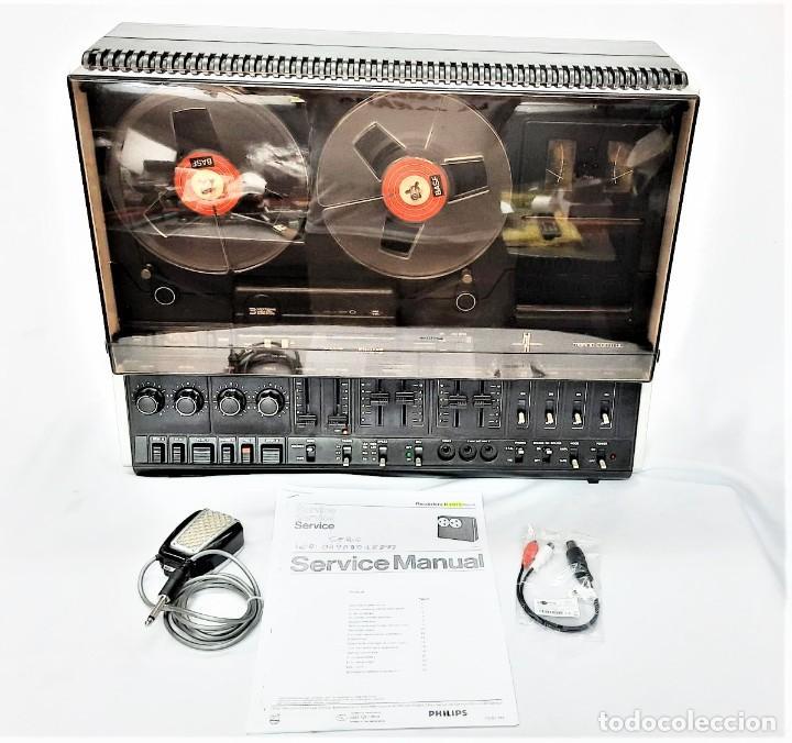 Fonógrafos y grabadoras de válvulas: PHILIPS N4515/00 3 Motores GRABA BIEN, VER VÍDEOS ADJUNTOS - Serie WR: 02908018873 - Foto 16 - 264538294
