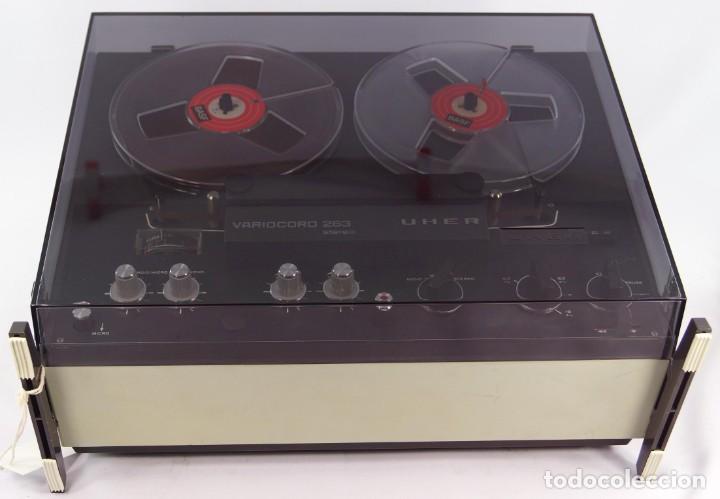 MAGNETÓFONO DE BOBINA ABIERTA MARCA UHER VARIOCOR - SERIE 2800/74332 - GRABA BIEN (Radios, Gramófonos, Grabadoras y Otros - Fonógrafos y Grabadoras de Válvulas)