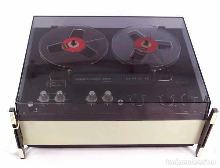 Fonógrafos y grabadoras de válvulas: Magnetófono de bobina abierta Marca UHER VARIOCOR - SERIE 2800/74332 - GRABA BIEN - Foto 3 - 265355439