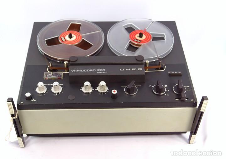 Fonógrafos y grabadoras de válvulas: Magnetófono de bobina abierta Marca UHER VARIOCOR - SERIE 2800/74332 - GRABA BIEN - Foto 4 - 265355439