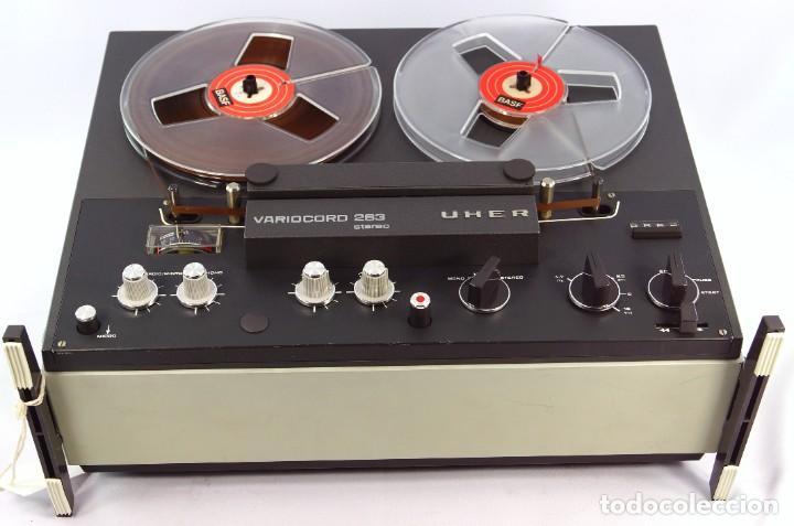 Fonógrafos y grabadoras de válvulas: Magnetófono de bobina abierta Marca UHER VARIOCOR - SERIE 2800/74332 - GRABA BIEN - Foto 5 - 265355439