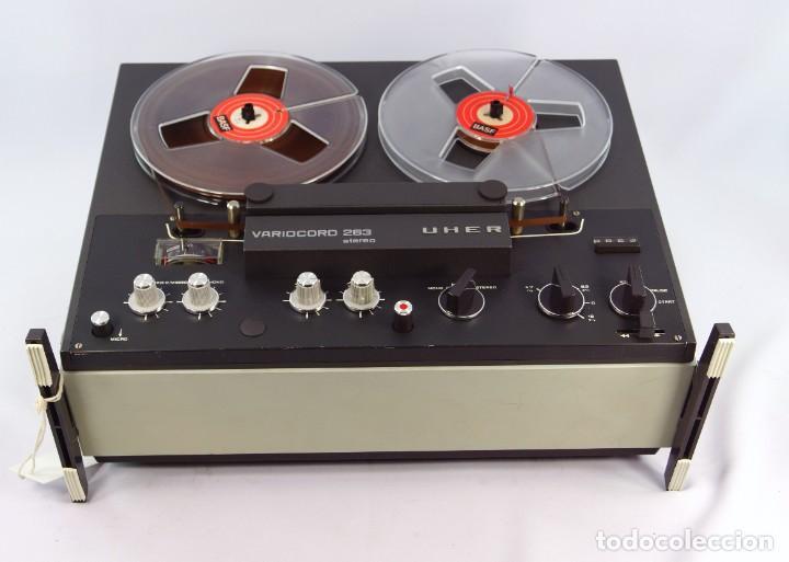 Fonógrafos y grabadoras de válvulas: Magnetófono de bobina abierta Marca UHER VARIOCOR - SERIE 2800/74332 - GRABA BIEN - Foto 6 - 265355439