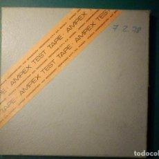 Fonógrafos y grabadoras de válvulas: AMPEX TEST TAPE 70 MICRO SEGUNDOS CINTA ALINEACIÓN AZIMUT CABEZAL MAGNETÓFONO REEL TO BOBINA ABIERTA. Lote 269971438