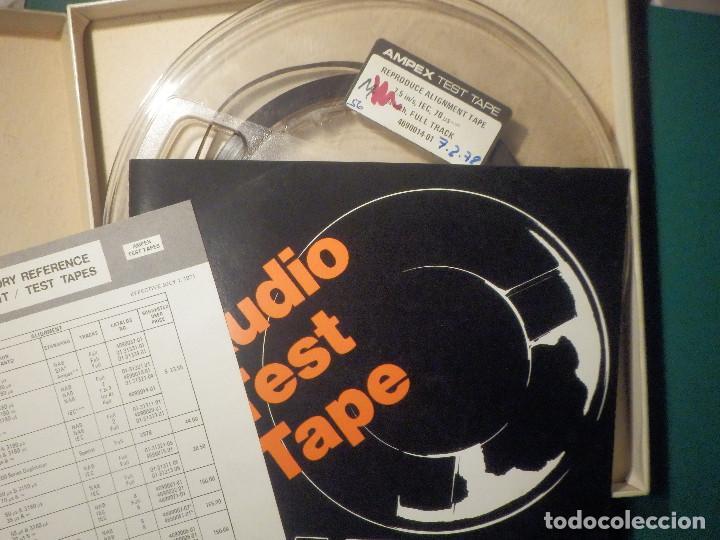 Fonógrafos y grabadoras de válvulas: Ampex Test Tape 70 micro segundos Cinta alineación Azimut Cabezal Magnetófono Reel to Bobina Abierta - Foto 2 - 269971438