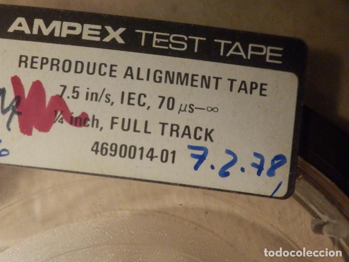 Fonógrafos y grabadoras de válvulas: Ampex Test Tape 70 micro segundos Cinta alineación Azimut Cabezal Magnetófono Reel to Bobina Abierta - Foto 4 - 269971438