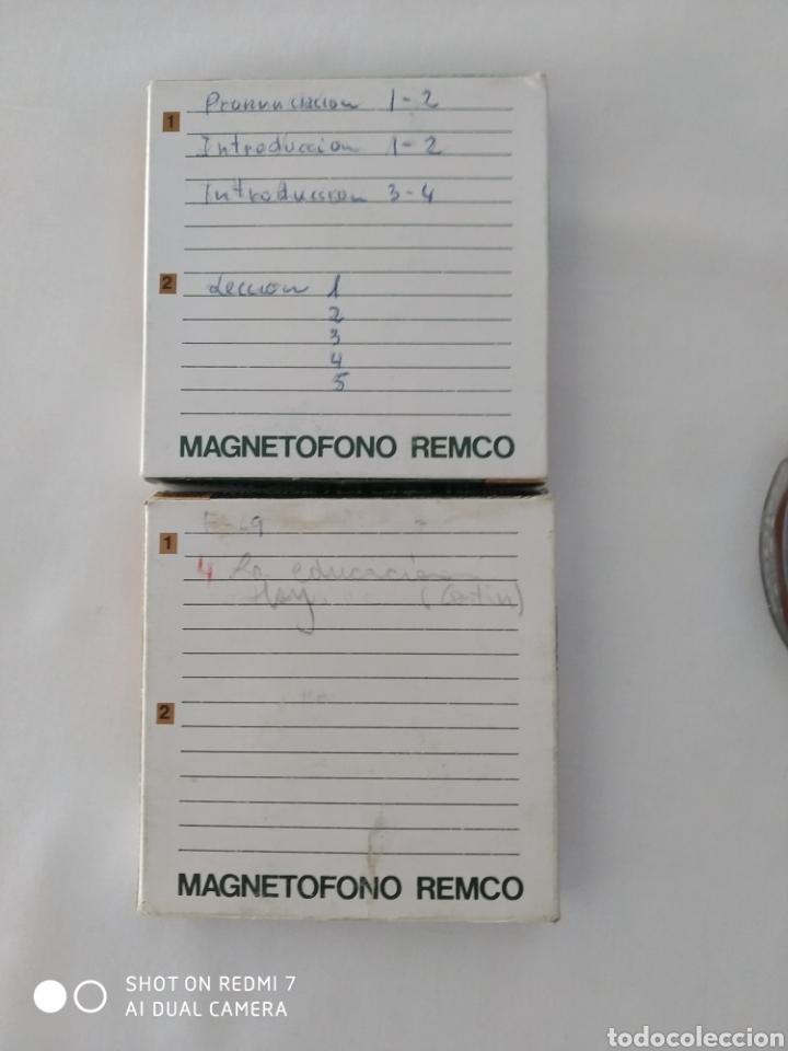 Fonógrafos y grabadoras de válvulas: Cinta Magnetofono Remco x2, usados - Foto 3 - 270519878
