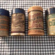 Fonógrafos y grabadoras de válvulas: 4 ENVASES DE CILINDROS. Lote 276529278