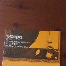 Fonógrafos y grabadoras de válvulas: MANUAL DEL MÍTICO PLATO THORENS TD 160 ORIGINAL. Lote 288381968