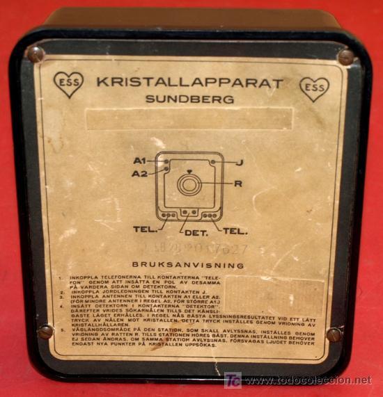 Radios de galena: RADIO GALENA - AS DE CORAZONES - DEL AÑO 1928 - Foto 8 - 11610804