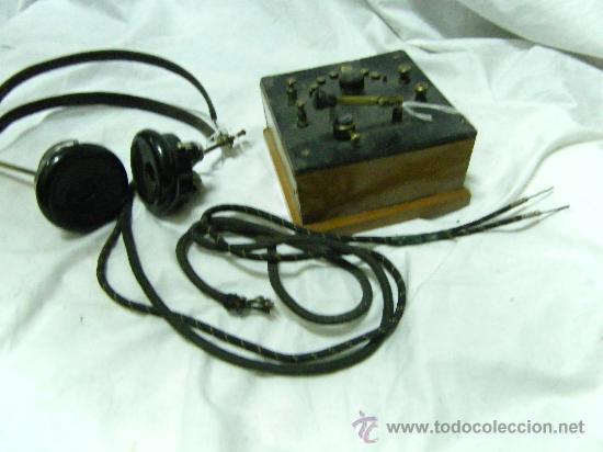 RADIO GALENA CON AURICULARES (Radios, Gramófonos, Grabadoras y Otros - Radios de Galena)
