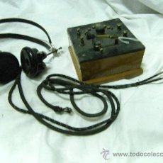 Radios de galena: RADIO GALENA CON AURICULARES. Lote 26071569