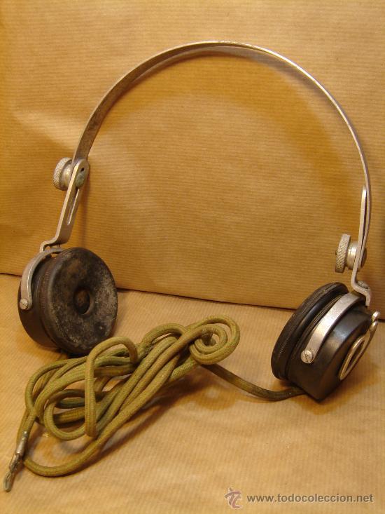ANTIGUOS AURICULARES ALTA IMPEDANCIA 500 OHMS - PIVAL BAQUELITA - RADIO GALENA - (Radios, Gramófonos, Grabadoras y Otros - Radios de Galena)