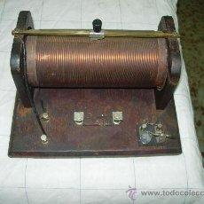 Radios de galena: RADIO GALENA DE BOBINA. Lote 35413737