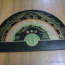 Radios de galena: CRISTAL DE DIAL PARA RADIO, 19 X 12,8 CM. Lote 39727528