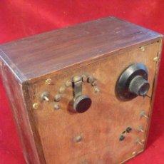 Radios de galena: RADIO GALENA DE MADERA. Lote 93078292