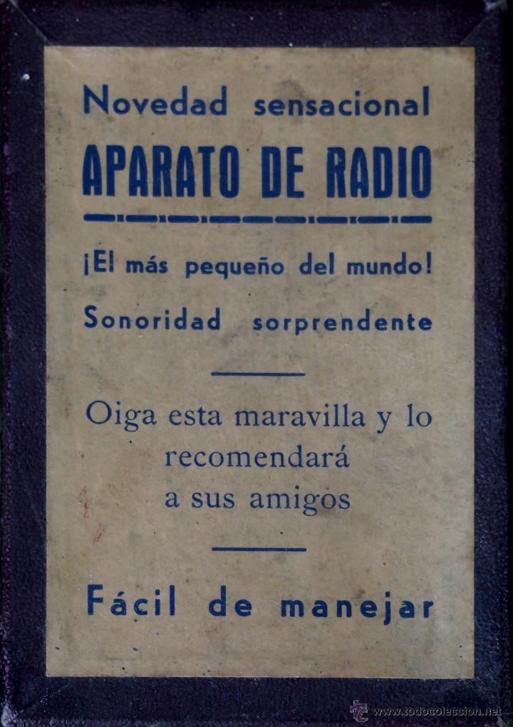APARATO DE RADIO (EL MÁS PEQUEÑO DEL MUNDO). ESPAÑA. CIRCA 1920 (Radios, Gramófonos, Grabadoras y Otros - Radios de Galena)