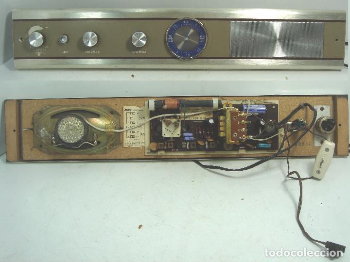 RADIO VINTAGE PARA EMPOTRAR - HNOS RIPOLLES VINAROZ - CABEZAL CAMA - AÑOS 70 (Radios, Gramófonos, Grabadoras y Otros - Radios de Galena)