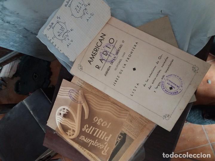 Radios de galena: radio antigua con tocadiscos - Foto 6 - 87672580