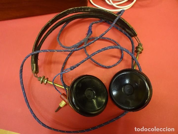 Radios de galena: Preciosa RADIO DE GALENA en caja de madera y con auriculares. Magnífica conservación - Foto 3 - 99710943