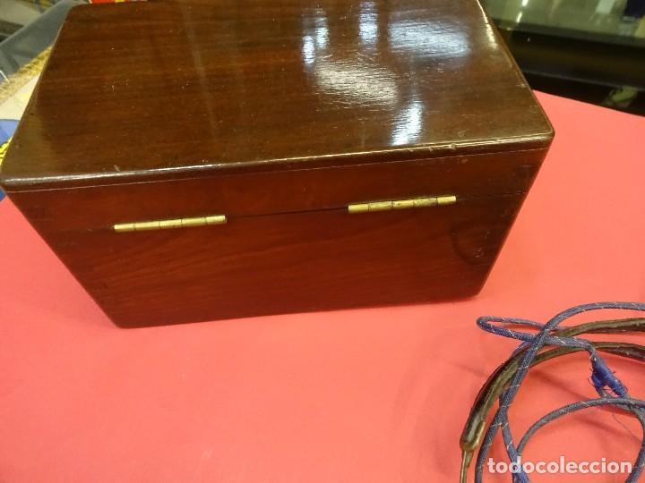Radios de galena: Preciosa RADIO DE GALENA en caja de madera y con auriculares. Magnífica conservación - Foto 6 - 99710943