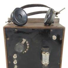 Radios de galena: RADIO DE GALENA. PERMEC. TIPO F. PARIS. AURICULARES ORIGINALES. FRANCIA. SIGLO XX.. Lote 105261055