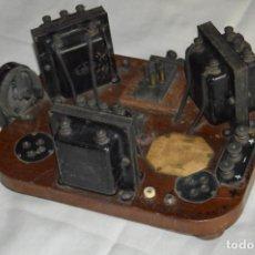 Radios de galena: VINTAGE - ANTIGUA RADIO DE GALENA DE MADERA - PRINCIPIOS DE 1900 - RARA - ENVÍO 24H. Lote 132545502