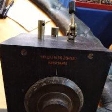 Radios de galena: MUY ANTIGUA RADIO DE GALENA ELEKTRISK BUREAU KRISTIANIA. Lote 140071472