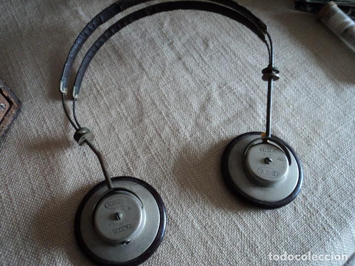AURICULARES DE BAQUELITA PARA RADIO DE GALENA MARCA CRYSTAL (Radios, Gramófonos, Grabadoras y Otros - Radios de Galena)