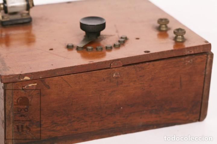 Radios de galena: Antigua Radio de Galena con Caja de Madera - Marcada Record - Años 40-50 - Foto 2 - 156475434