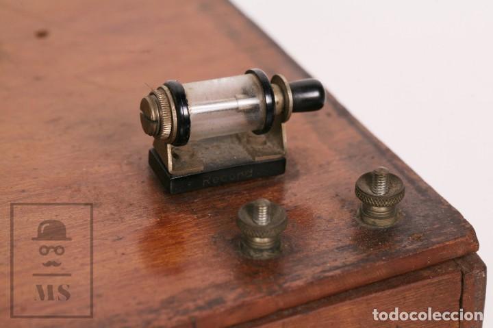 Radios de galena: Antigua Radio de Galena con Caja de Madera - Marcada Record - Años 40-50 - Foto 4 - 156475434