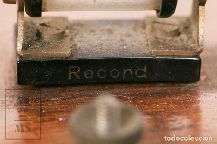 Radios de galena: Antigua Radio de Galena con Caja de Madera - Marcada Record - Años 40-50 - Foto 5 - 156475434